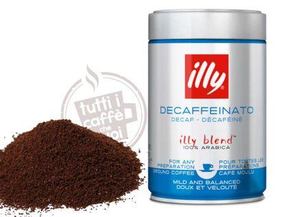 illy espresso decaffeinato macinato